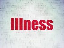 Zdrowia pojęcie: Choroba na Cyfrowych dane papieru tle fotografia royalty free