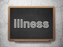 Zdrowia pojęcie: Choroba na chalkboard tle Zdjęcia Stock