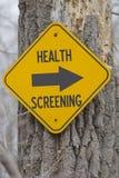 Zdrowia przesiewanie ten sposób fotografia stock