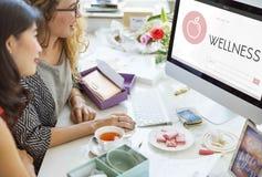 Zdrowia Wellness diety ćwiczenia Organicznie pojęcie Obraz Royalty Free