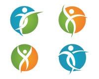 Zdrowia życie i zabawa logo Zdjęcie Stock