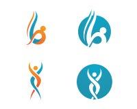 Zdrowia życie i zabawa logo Zdjęcia Stock