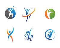 Zdrowia życie i zabawa logo Zdjęcie Royalty Free