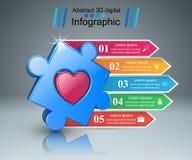 Zdrowie łamigłówki ikona 3D Medyczny infographic Obraz Royalty Free