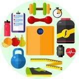 Zdrowie, diety sprawność fizyczna Fotografia Stock