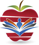 Zdrowie edukaci logo Zdjęcie Stock
