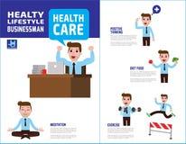 Zdrowie elementu projekta medyczna wektorowa infographic ilustracja ilustracja wektor