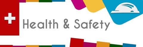 Zdrowie I Bezpieczeństwo Abstrakcjonistyczni Kolorowi kształty royalty ilustracja