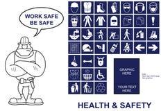 Zdrowie I Bezpieczeństwo znaki Obrazy Stock