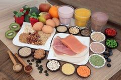 Zdrowie i ciała budynku jedzenie obraz stock