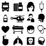 Zdrowie i medyczne ikony Zdjęcia Royalty Free