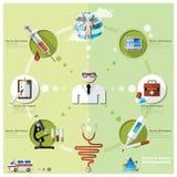 Zdrowie I Medyczny Infographic royalty ilustracja