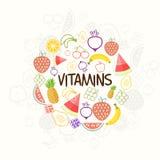 Zdrowie i Medyczny pojęcie z owoc Obraz Royalty Free