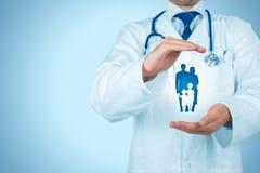 Zdrowie i ubezpieczenie medyczne Fotografia Stock