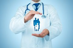 Zdrowie i ubezpieczenie medyczne obraz royalty free