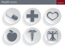Zdrowie ikony Zdjęcia Royalty Free