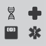 Zdrowie ikony Zdjęcia Stock