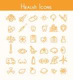 Zdrowie ikony royalty ilustracja
