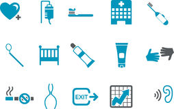 zdrowie ikony set ilustracja wektor