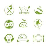 Zdrowie kuchni i kucharstwa ikony Obraz Royalty Free