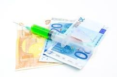 Zdrowie mierzy w pieniądze Obraz Royalty Free
