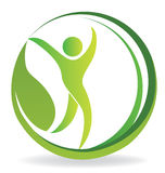 Zdrowie natury loga ludzie Zdjęcie Royalty Free