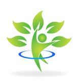 Zdrowie natury postaci drzewny logo ilustracja wektor