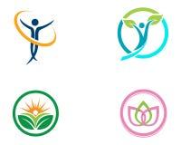 Zdrowie opieki terapii rodzinny logo i symbol natura ilustracja wektor