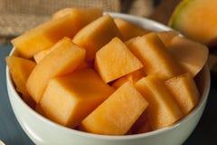 Zdrowie Organicznie Pomarańczowy kantalup zdjęcie stock