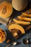 Zdrowie Organicznie Pomarańczowy kantalup zdjęcia royalty free