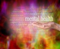 Zdrowie Psychiczne świadomości słowa etykietki chmura ilustracja wektor