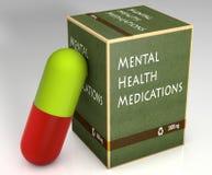 Zdrowie psychiczne lekarstwa Zdjęcia Stock