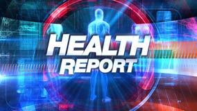 Zdrowie raport - Wyemitowana TV tytułu grafika ilustracji