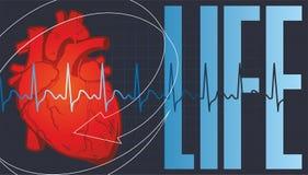Zdrowie serce ilustracja wektor