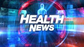 Zdrowie transmisji wiadomości TV tytułu grafika royalty ilustracja
