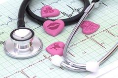 Zdrowie twój serce Obrazy Royalty Free