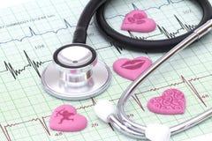 Zdrowie twój serce Obraz Stock