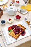 Zdrowy śniadanie set zdjęcia stock