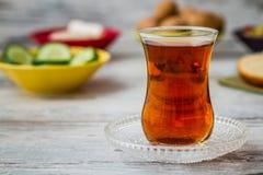 Zdrowy śniadanie z herbatą Obrazy Stock
