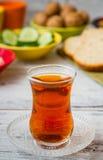 Zdrowy śniadanie z herbatą Zdjęcia Stock