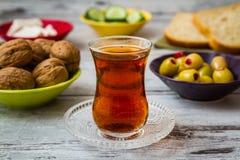 Zdrowy śniadanie z herbatą Zdjęcie Royalty Free