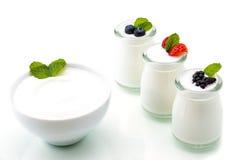 Zdrowy śniadanie z jogurtem i jagodą dieting, świeżość zdjęcia stock
