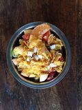 Zdrowy śniadanie, zboże, świeży posiłek, organicznie vegeterian naczynie zdjęcia royalty free