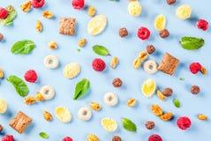 Zdrowy śniadaniowy składnika pojęcie Fotografia Royalty Free
