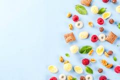 Zdrowy śniadaniowy składnika pojęcie Fotografia Stock