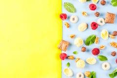 Zdrowy śniadaniowy składnika pojęcie Obrazy Stock
