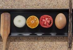 Zdrowy świeża żywność set Fotografia Stock