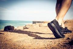 Zdrowy życie na plaży obrazy stock