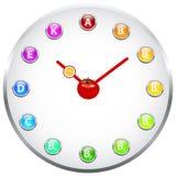 Zdrowy życie zegar Obraz Stock