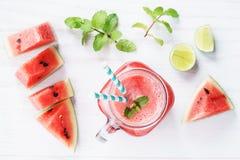 Zdrowy arbuza napój Zdjęcia Royalty Free